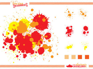 splats and hatchings by josselin01 16 vectores abstractos de manchas