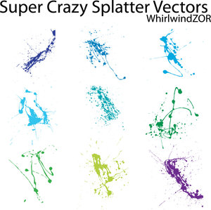 super crazy splatter vectors by whirlwindzor 16 vectores abstractos de manchas