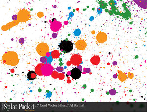 vector spat pack v1 by cj viru by cjvirus 16 vectores abstractos de manchas