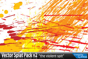 vector splat pack v2 by cjvirus 16 vectores abstractos de manchas
