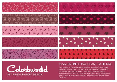 10 valentines day heart prvw 10 fondos de corazones para paginas web