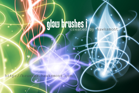 glow brushes i by hawksmont 18 paquetes de brushes photoshop para ...