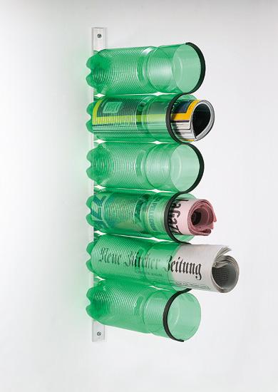 recycline zeitungshalter Ejemplos para reciclar botellas de plastico