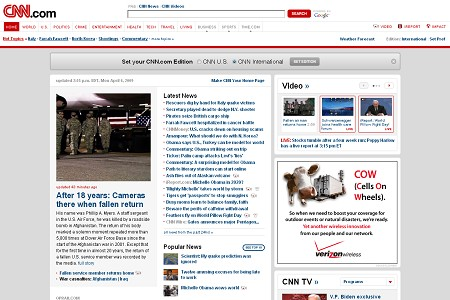 cnn com 30 ejemplos de paginas de periodicos y noticias en linea