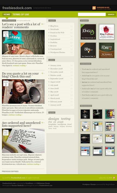 freemium 41 grandiosas plantillas para wordpress gratis