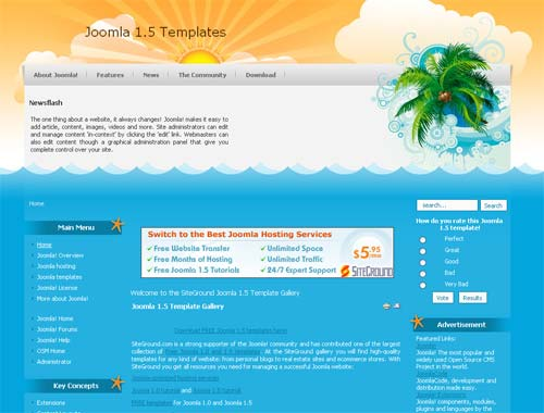 palms 15 plantillas gratis para joomla 1.5