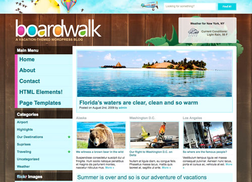 boardwalk Las mejores plantillas para wordpress del 2009