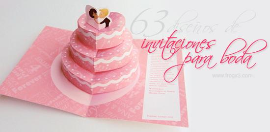 63 Diseños De Invitaciones Para Boda Realmente Creat