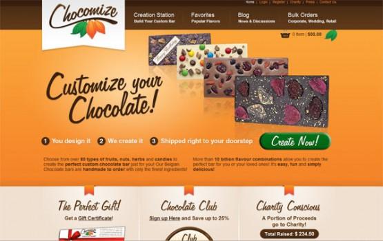 chocomize 555x350 30 increíbles diseños web de paginas de postres