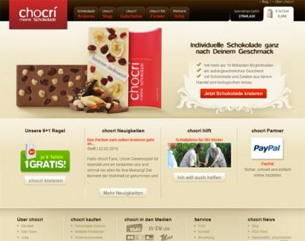 chocri 443x350 30 increíbles diseños web de paginas de postres