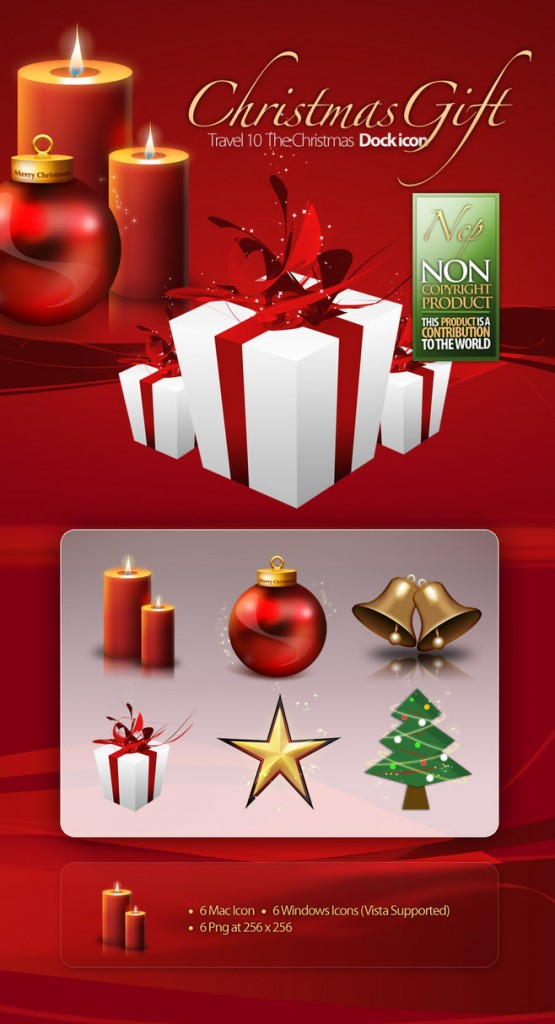 Christmas Dock Icons by petercui 555x1024 8 Paquetes de iconos navideños gratis