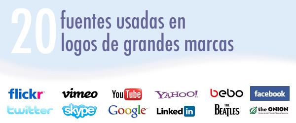 tipografias de grandes marcas 20 Fuentes usadas en logos de grandes marcas