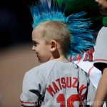 Aficionados niños de los Boston Red Sox