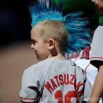 Aficionados niños de los Boston Red Sox