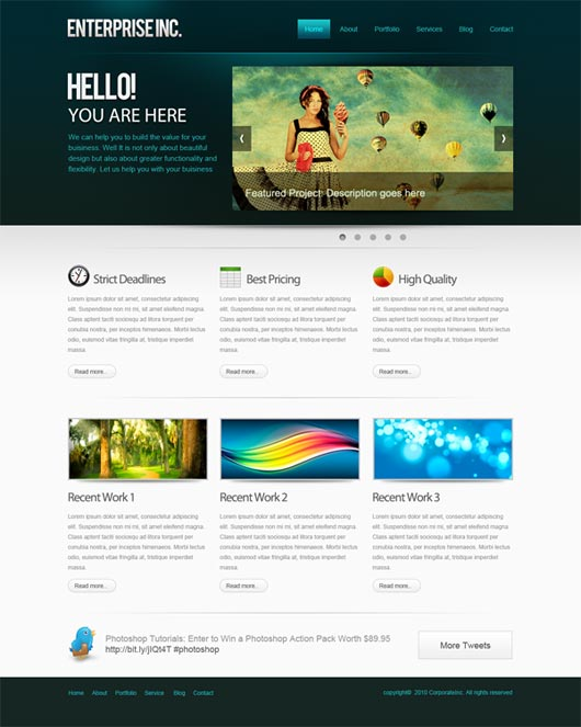 Crear diseños web profesionales con Photoshop