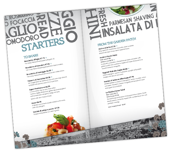 menu de comida 2 Ejemplos de menus de comida para inspirarse