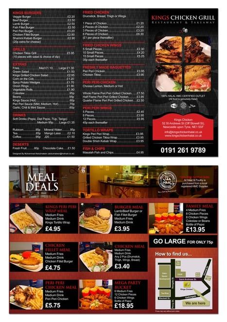 menu de comida 6 Ejemplos de menus de comida para inspirarse