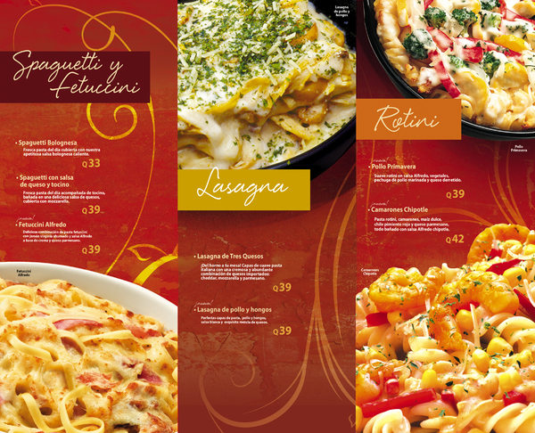 menu de comida 8 Ejemplos de menus de comida para inspirarse