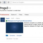 pagina oficial frogx3 google plus