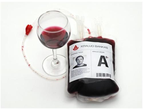 bolsa transfusion vino