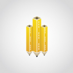 diseños de logos que utilizan plumas o lapices 8