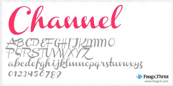 Channel 11 Fuentes cursivas elegantes gratis