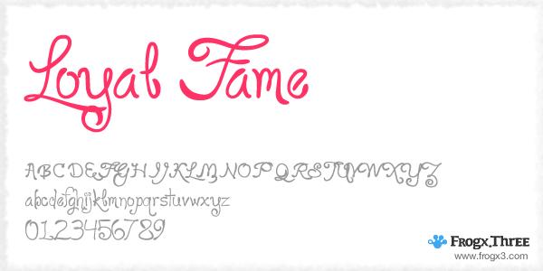 Loyal Fame 11 Fuentes cursivas elegantes gratis