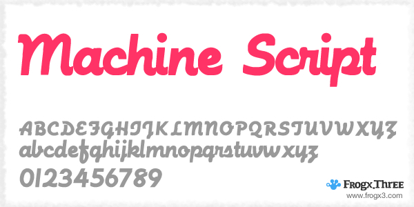 Machine Script 11 Fuentes cursivas elegantes gratis
