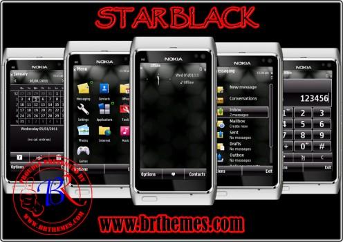 Temas nokia N9 star black 496x350 6 Temas para Nokia N9 gratis