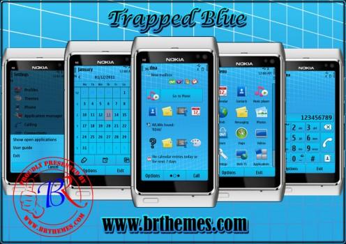 Temas nokia N9 trapped blue 496x350 6 Temas para Nokia N9 gratis