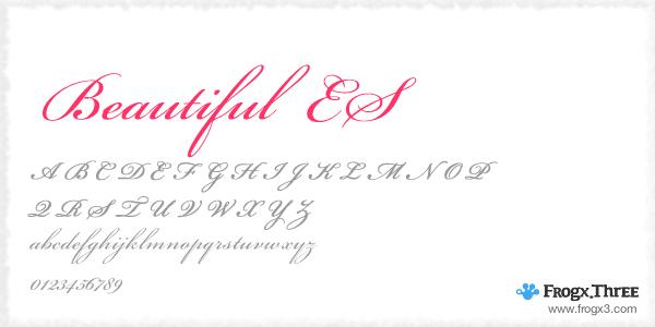 beautiful es 11 Fuentes cursivas elegantes gratis