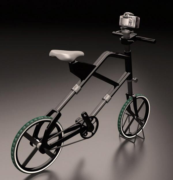 bicicleta con tripode para fotografos 3