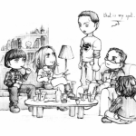 caricaturas the big bang theory 5
