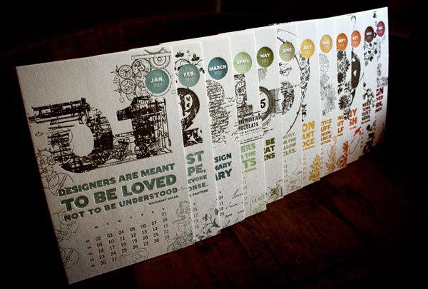 excelentes dise u00f1os creativos de calendarios 2012