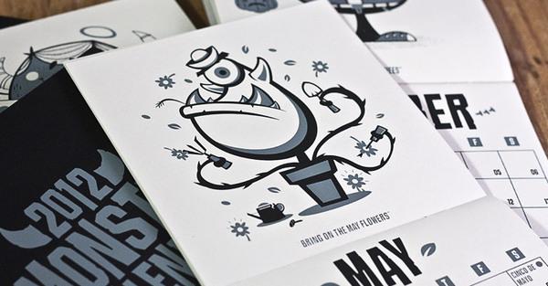 Excelentes dise os creativos de calendarios 2012 frogx three - Disenos de calendarios ...