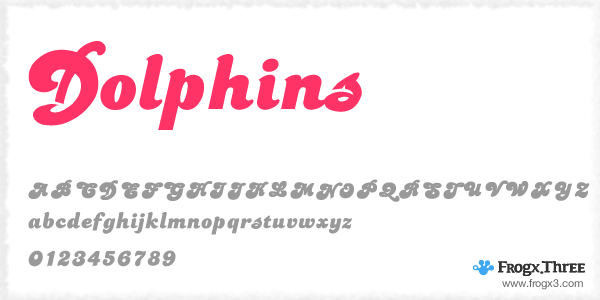 dolphins 11 Fuentes cursivas elegantes gratis