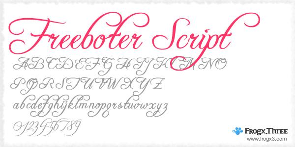 freeboter script 11 Fuentes cursivas elegantes gratis