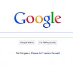 google portada contra SOPA
