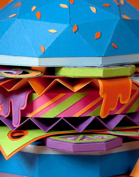 hamburguesa hecha con papel 7