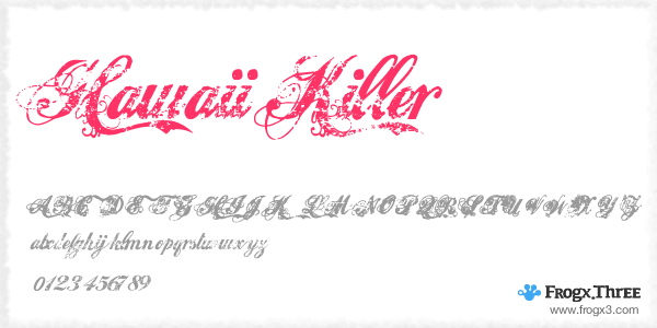 hawaii Killer 11 Fuentes cursivas elegantes gratis