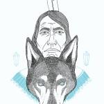 ilustraciones de indios americanos totem 4