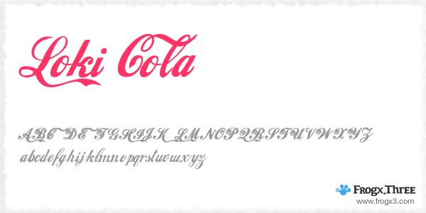 loki cola 11 Fuentes cursivas elegantes gratis