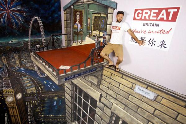 obras de arte 3D callejeras 3