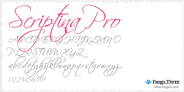 scriptina pro 11 Fuentes cursivas elegantes gratis
