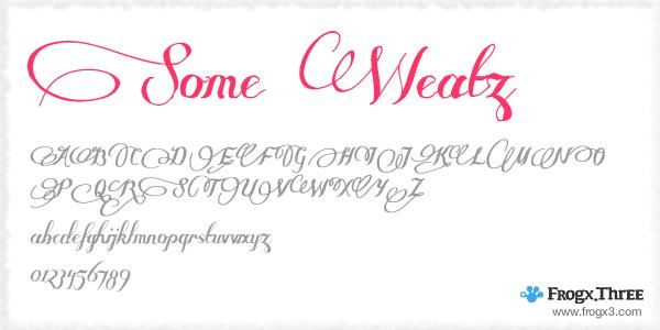 some weatz 11 Fuentes cursivas elegantes gratis
