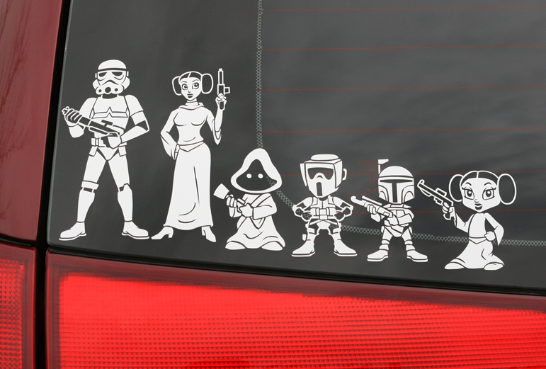 stickers para auto de star wars Stickers de Star Wars para auto para familias Geek