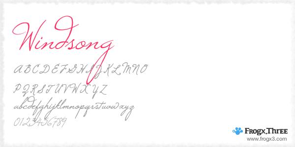 windsong 11 Fuentes cursivas elegantes gratis