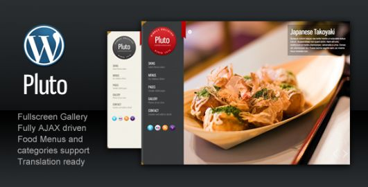 Pluto Fullscreen Cafe and Restaurant 531x270 1 Plantillas Wordpress gratis fullscreen
