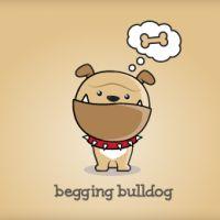 diseños logos perros begging bulldog