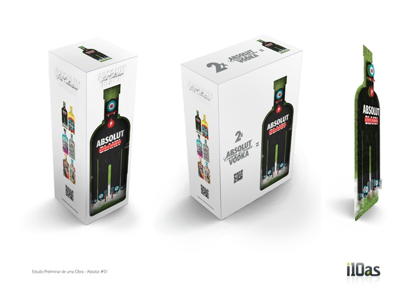 diseños packaging vodka absolut 11